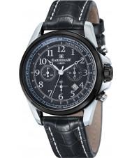 Thomas Earnshaw ES-8028-07 Mens Commodore Black Leather Chronograph Watch