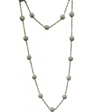 Nevine Crystals CN101 Classic Gold and Silver Extra Long Necklace