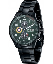 AVI-8 AV-4011-14 Mens Hawker Hurricane Black Steel Chronograph Watch