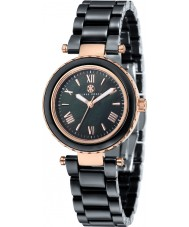 Klaus Kobec KK-10006-06 Ladies Venus Rose Gold and Black Ceramic Watch