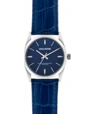 Zadig and Voltaire ZVF231 Fusion Blue Crock Leather Strap Watch