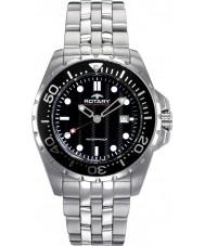 Rotary AGB00013-W-04 Mens Aquaspeed Black Steel Watch