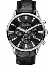 Roamer 508837-41-55-05 Mens Superior Black Leather Chronograph Watch