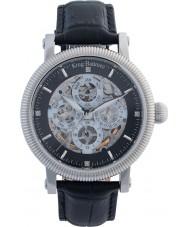 Krug-Baumen 60211DM Mens Majestic Black Leather Strap Watch