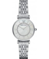 Emporio Armani AR1908 Ladies Silver Plated Link Bracelet Dress Watch