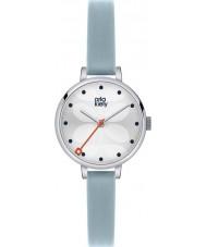 Orla Kiely OK2015 Ladies Ivy Sky Blue Leather Strap Watch