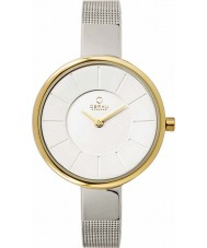 Obaku V149LXAIMC Ladies Gold and Silver Tone Mesh Bracelet Watch