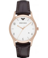 Emporio Armani AR1915 Mens Classic Dark Brown Leather Strap Watch