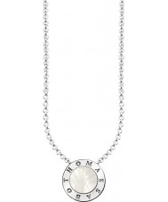 Thomas Sabo KE1492-029-14-L45v Ladies Silver Signature Classic Necklace With Mother Of Pearl