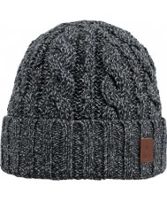 Barts 2383001 Twister Black Turnup Beanie