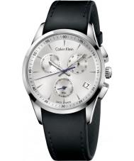 Calvin Klein K5A271C6 Bold Silver Black Chronograph Watch