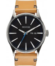 Nixon A105-1602 Sentry Leather Natural Black Watch