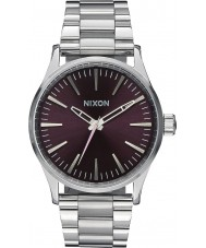 Nixon A450-2157 Mens Sentry 38 SS Plum Tapered Strap Watch