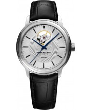 Raymond Weil 2227-STC-65001 Mens Maestro Black Leather Strap Watch