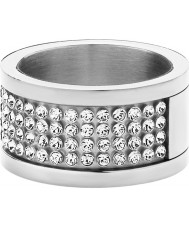 Dyrberg Kern 330961 Ladies Emily II Silver Steel Crystal Ring
