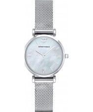 Emporio Armani AR1955 Ladies Silver Steel Mesh Bracelet Dress Watch