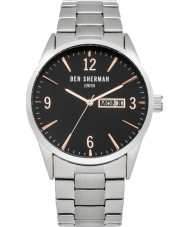 Ben Sherman WB053BSM Mens Silver Steel Bracelet Watch