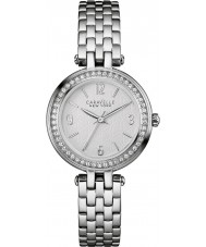 Caravelle New York 43L185 Ladies Mini T-Bar Silver Steel Bracelet Watch