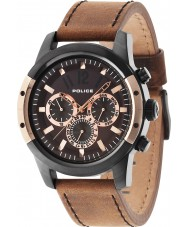 Police 14528JSBR-12 Mens Scrambler Brown Watch