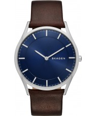 Skagen SKW6237 Mens Holst Dark Brown Leather Strap Watch