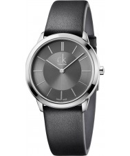 Calvin Klein K3M221C4 Minimal Black Leather Strap Watch