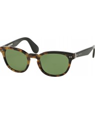 Ralph Lauren RL8130P 50 Heritage Collection Havana Spotty on Black 525452 Sunglasses