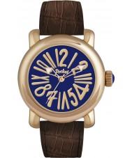 Pocket PK3004 Mens Rond Classique Grande Blue Brown Watch