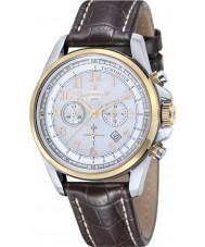 Thomas Earnshaw ES-8028-08 Mens Commodore Brown Leather Chronograph Watch