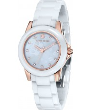 Klaus Kobec KK-10008-02 Ladies Vesta Rose Gold and White Ceramic Watch