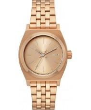 Nixon A1130-897 Ladies Medium Time Teller All Rose Gold Steel Watch