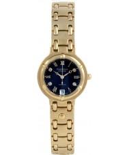 Krug-Baumen 5118DL Charleston 4 Diamond Black Dial Gold Strap
