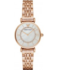 Emporio Armani AR1909 Ladies Rose Gold Plated Link Bracelet Dress Watch