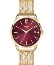 Henry London HL39-M-0062 Ladies Holborn Burgundy Hamilton Gold Watch