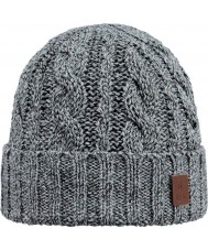 Barts 2383002 Twister Heather Grey Turnup Beanie