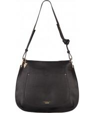 Fiorelli FH8519-BLACK Ladies Boston Black Saddle Hobo Bag