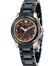 Klaus Kobec KK-10008-03 Ladies Vesta Gold and Black Ceramic Watch
