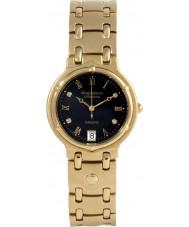 Krug Baümen 5118DM Charleston 4 Diamond Black Dial Gold Strap