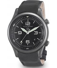 Elliot Brown 202-004-L10 Mens Canford Matt Black Leather Strap Watch