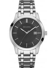 Bulova 96B223 Mens Dress Silver Steel Bracelet Watch