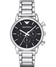 Emporio Armani AR1853 Mens Classic Chronograph Black Silver Watch