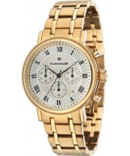 Thomas Earnshaw ES-8051-22 Mens Beaufort Yellow Gold Plated Chronograph Watch