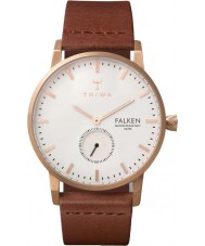 Triwa FAST101-CL010214 Rose Falken Brown Leather Strap Watch