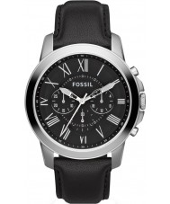 Fossil FS4812 Mens Grant Black Leather Chronograph Watch