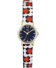 Orla Kiely OK4040 Ladies Flower Pop Red White Blue Expanding Bracelet Watch