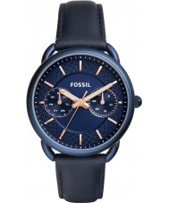 Fossil ES4092 Ladies Tailor Blue Leather Strap Watch