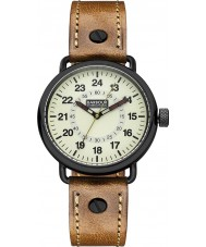 Barbour BB022GDBR Mens Fowler Brown Leather Strap Watch