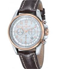 Thomas Earnshaw ES-8028-09 Mens Commodore Brown Leather Chronograph Watch