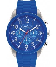 Caravelle New York 43A121 Ladies Carla Blue Chronograph Watch