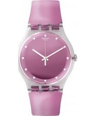 Swatch SUOK125 Rosegari Pink Plastic Strap Watch