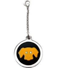 I Puppies PF-006-A Dog Steel and Orange Tag For Collar Medallion